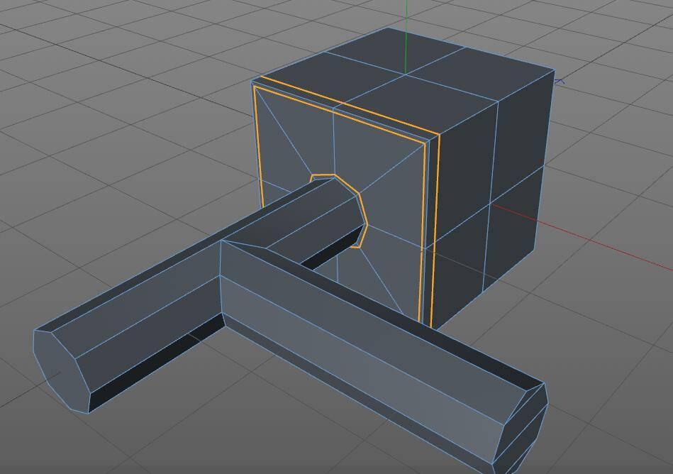 CINEMA 4D入门 (5):C4D细分曲面 建模 开孔洞技巧 之三 - R站|学习使我快乐! - 6