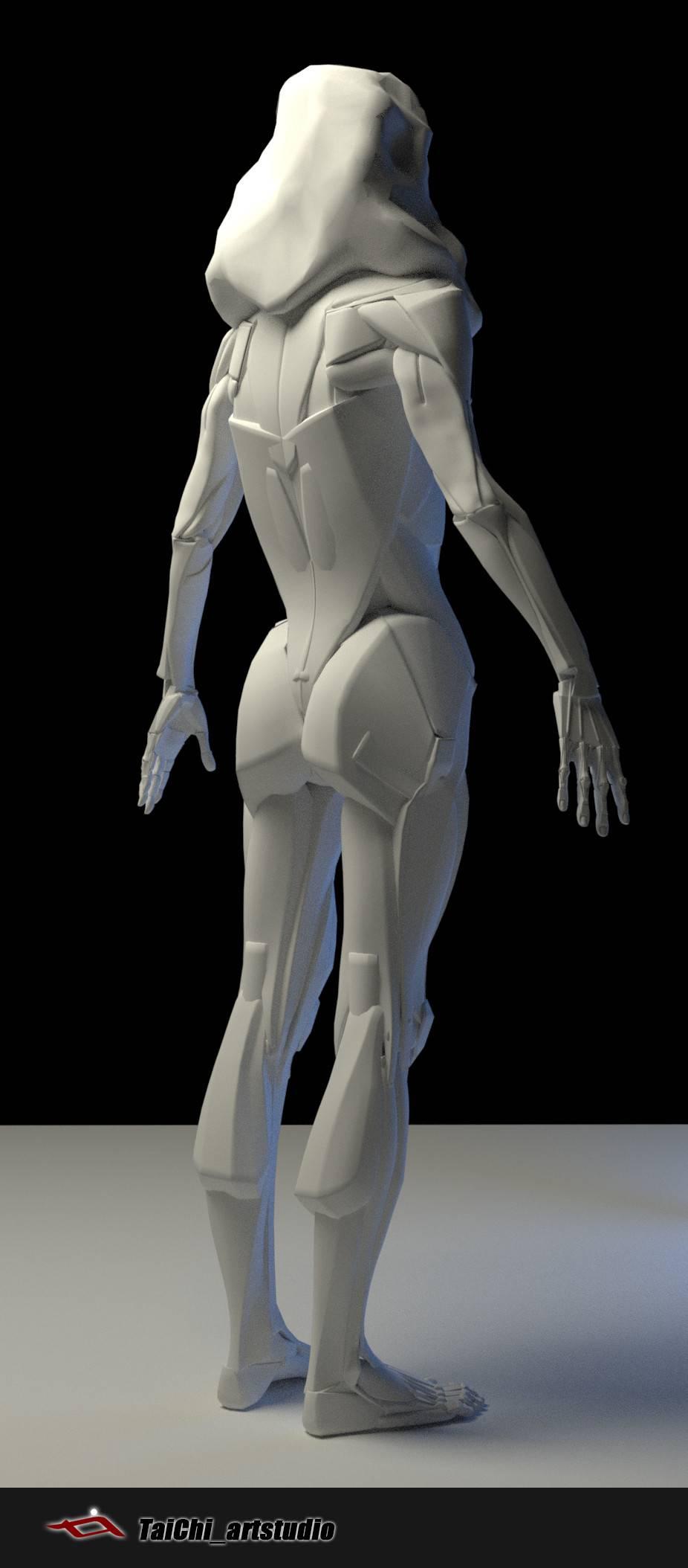 非常不错的人体分面图,美术练习的好东西! - R站|学习使我快乐! - 7
