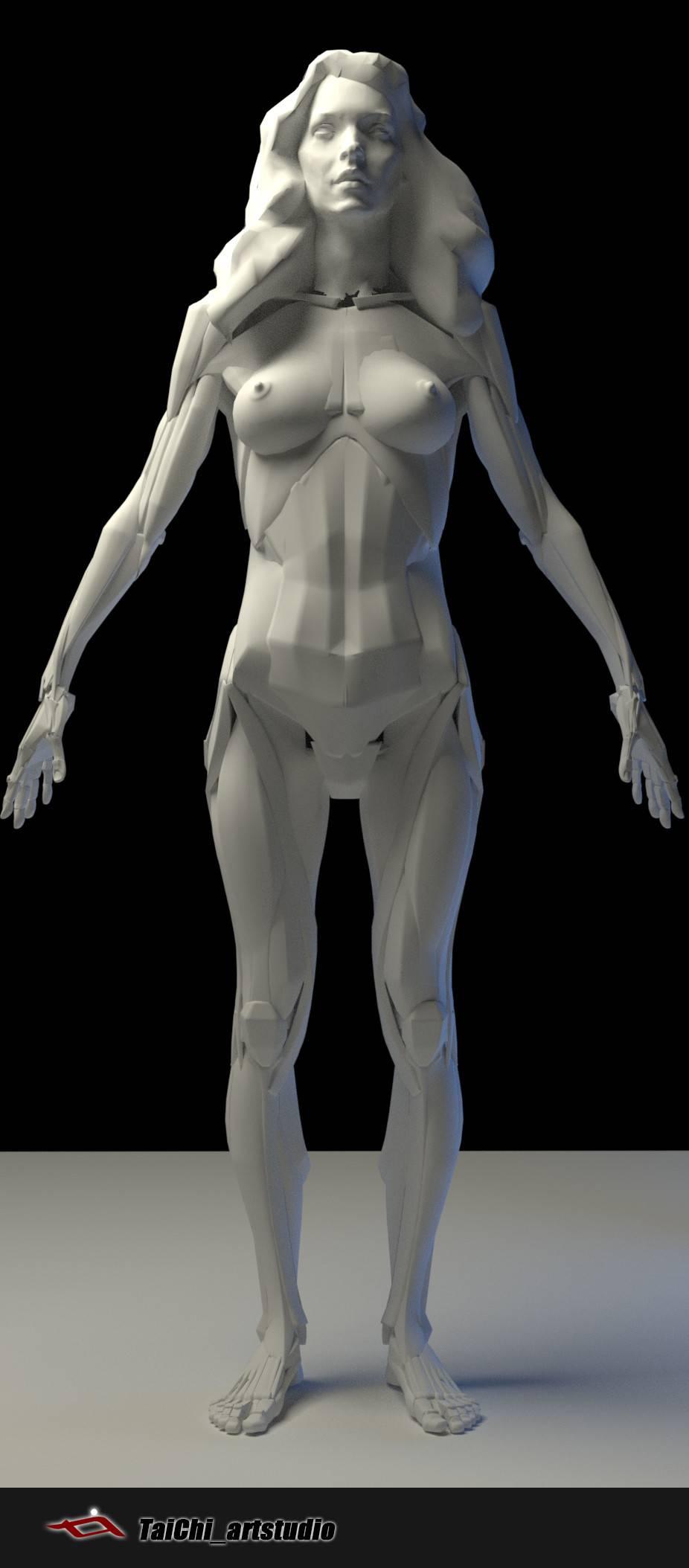 非常不错的人体分面图,美术练习的好东西! - R 站 学习使我快乐! - 28