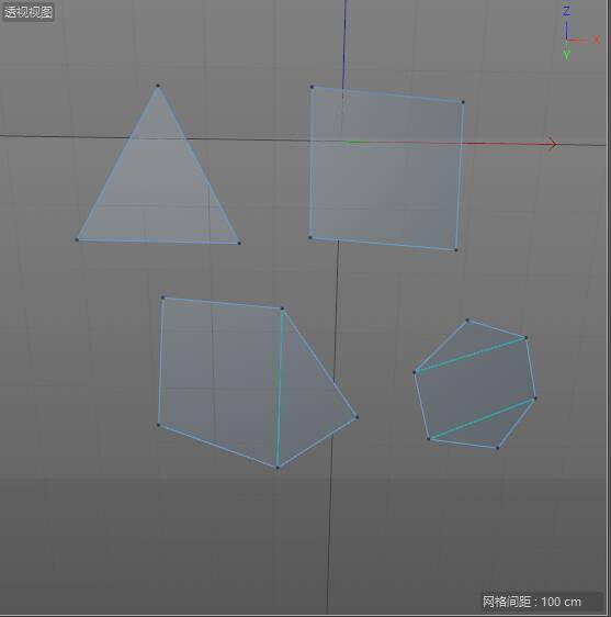CINEMA 4D 入门 (34):C4D 基础 硬表面建模之 Points – Edges – Ploygons(点、线、面) 的基础 - 2  三边形&四边形 - R 站|学习使我快乐! - 4