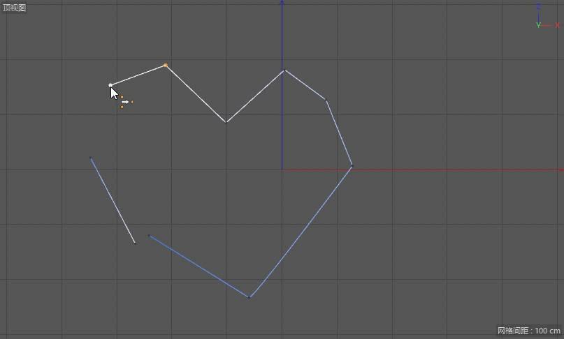 CINEMA 4D入门 (52):C4D 画笔样条spline 使用技巧(2) 闭合、断开、合并、焊接样条 - R站|学习使我快乐! - 9