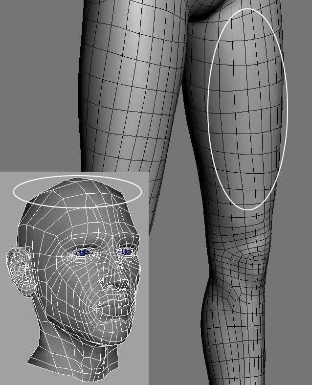 实用:人体3D模型 - 王康慧模型布线理论 - 2(布线的各种方法及特点) 转载 - R站|学习使我快乐! - 3