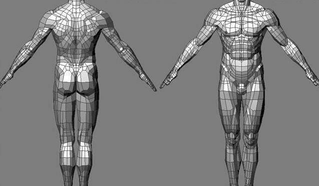 实用:人体3D模型 - 王康慧模型布线理论 - 2(布线的各种方法及特点) 转载 - R站|学习使我快乐! - 5