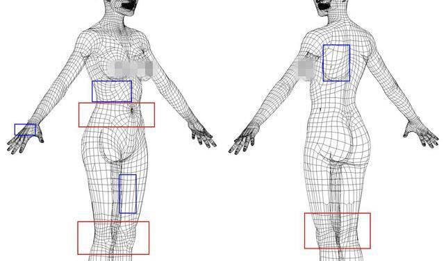 实用:人体3D模型 - 王康慧模型布线理论 - 2(布线的各种方法及特点) 转载 - R站|学习使我快乐! - 6