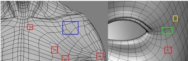 实用:人体3D模型 - 王康慧模型布线理论 - 2(布线的各种方法及特点) 转载 - R站|学习使我快乐! - 7