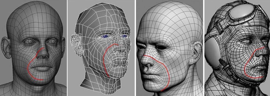 实用:人体3D模型 - 王康慧模型布线理论 - 3(具体模型布线实例分析) 转载 - R站 学习使我快乐! - 2