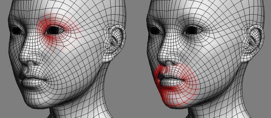 实用:人体3D模型 - 王康慧模型布线理论 - 3(具体模型布线实例分析) 转载 - R站|学习使我快乐! - 3