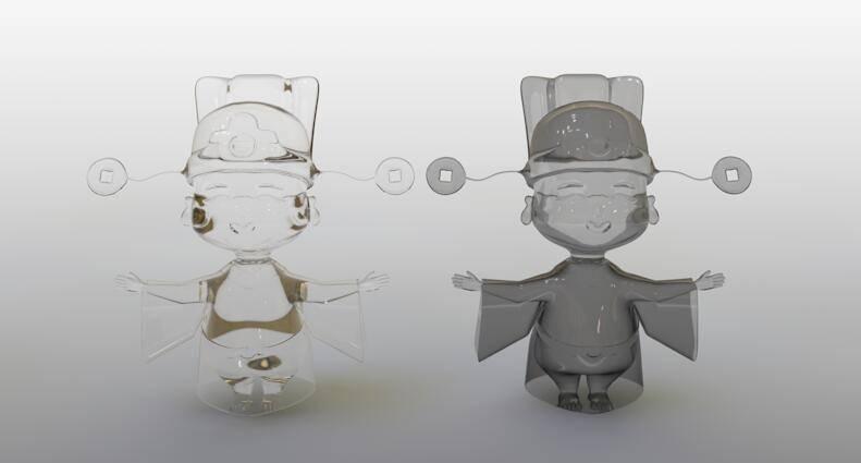 CINEMA 4D入门 (87):C4D渲染基础6 – C4D预设材质 BANJI玻璃 - R站 学习使我快乐! - 2