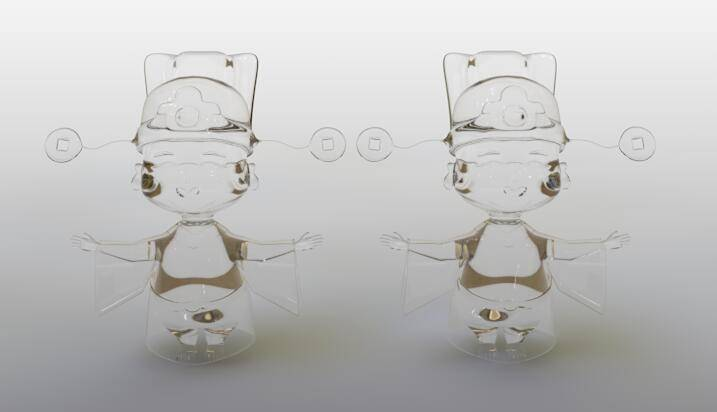 CINEMA 4D入门 (87):C4D渲染基础6 – C4D预设材质 BANJI玻璃 - R站 学习使我快乐! - 6