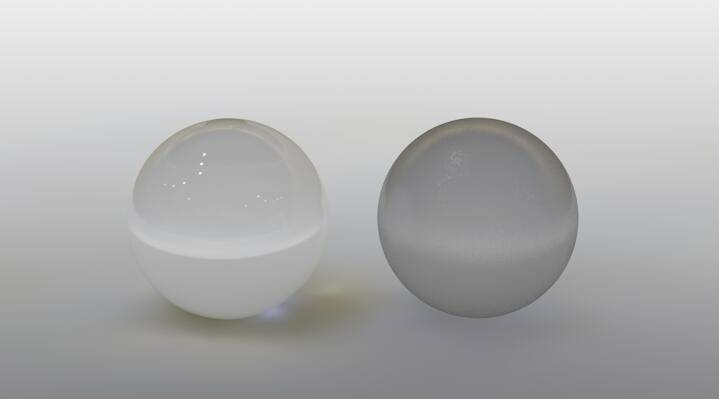 CINEMA 4D入门 (88):C4D渲染基础7 – C4D预设材质 BANJI毛玻璃 - R站|学习使我快乐! - 2
