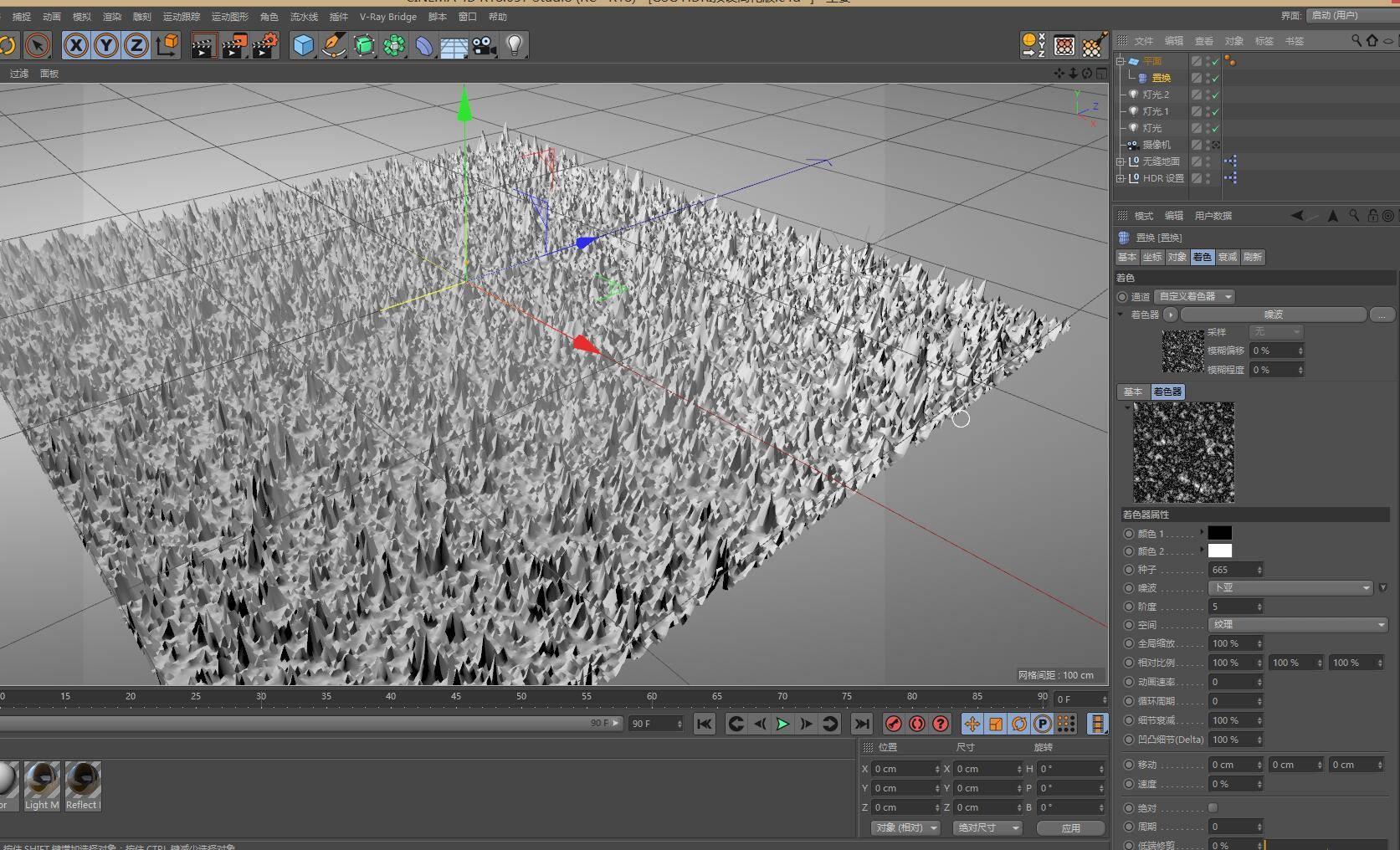 CINEMA 4D入门 (96):C4D渲染基础15 – C4D置换贴图材质 - R站|学习使我快乐! - 3