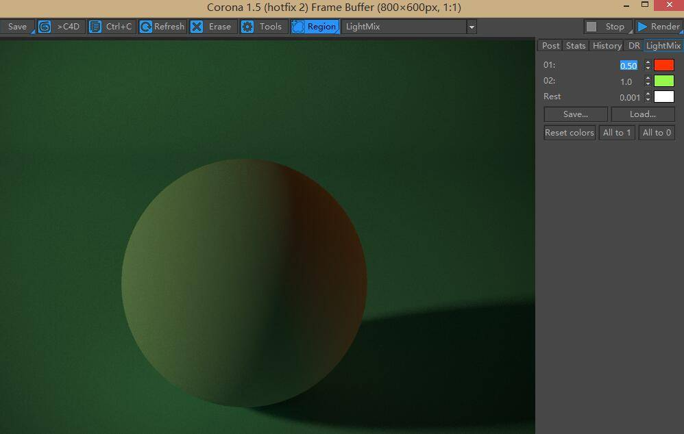 Corona渲染器教程(6): LightMix - 开启强大的交互式灯光混合 增强工具 - R站|学习使我快乐! - 6
