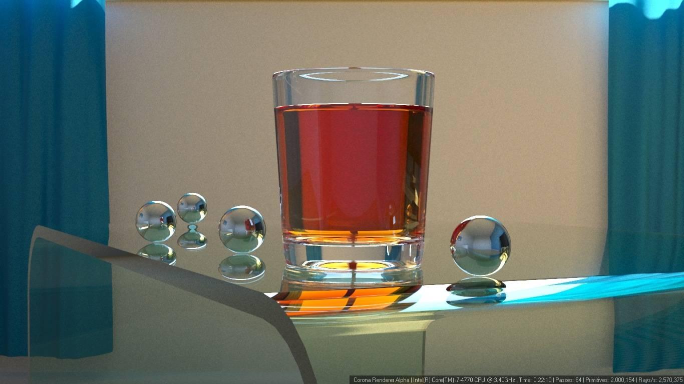 Corona 渲染器教程(12): 如何在透明容器里对液体进行建模? - R 站|学习使我快乐! - 4