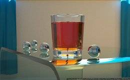 Corona渲染器教程(12): 如何在透明容器里对液体进行建模?