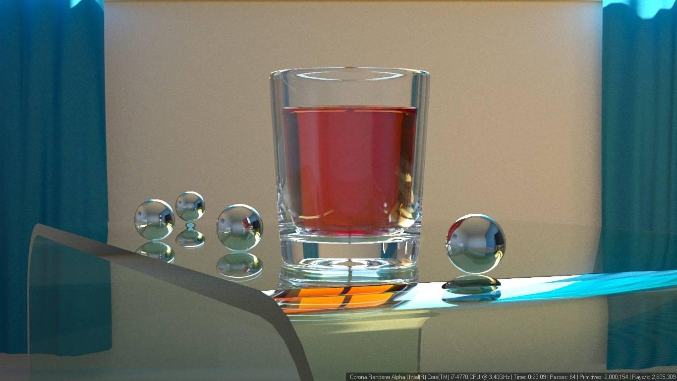 Corona 渲染器教程(12): 如何在透明容器里对液体进行建模? - R 站|学习使我快乐! - 6