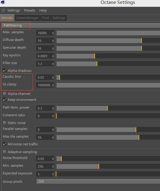 OctaneRender渲染器入门教程(2):设置 - Kernels核心 - Pathtracing 光线追踪 - R站|学习使我快乐! - 1
