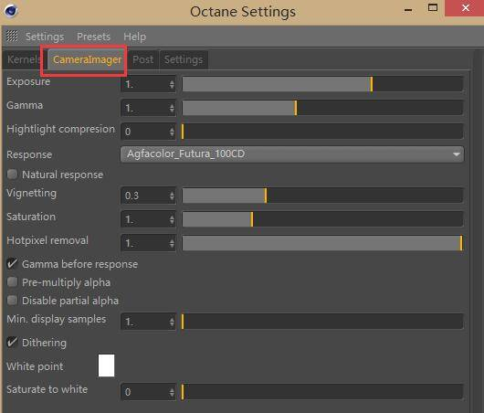 OctaneRender渲染器入门教程(8):设置 – Camera Imager Settings 摄像机成像设置 - R站|学习使我快乐! - 1