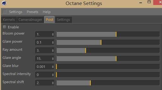 OctaneRender渲染器入门教程(9):设置 – POST 后期处理 辉光、炫光等。 - R站|学习使我快乐! - 1