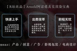 【R站出品】《Arnold阿诺德(C4DtoA)真实渲染宝典》高级视频教程(含工程文件)  限时超级优惠中……