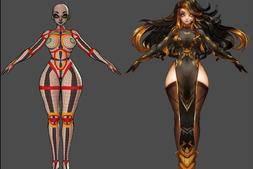 人体三位建模布线秘籍:一套非常不错的小姐姐各种关键部位走线,动画演示~