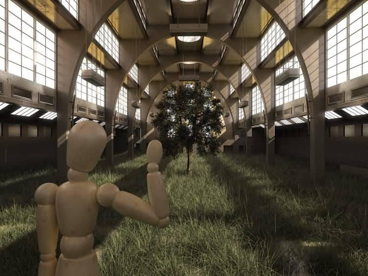 Vittorio Lippolis创意作品:简单的C4D人偶模型,也能演绎动人的作品! - R站|学习使我快乐! - 4