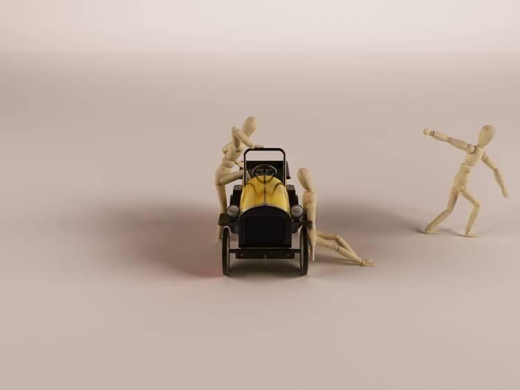 Vittorio Lippolis创意作品:简单的C4D人偶模型,也能演绎动人的作品! - R站 学习使我快乐! - 7