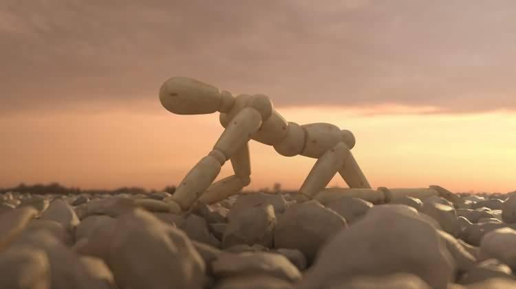 Vittorio Lippolis创意作品:简单的C4D人偶模型,也能演绎动人的作品! - R站|学习使我快乐! - 9