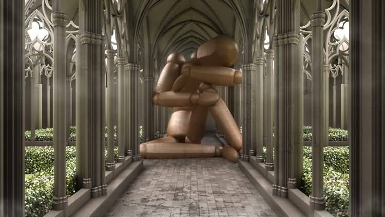 Vittorio Lippolis创意作品:简单的C4D人偶模型,也能演绎动人的作品! - R站|学习使我快乐! - 14