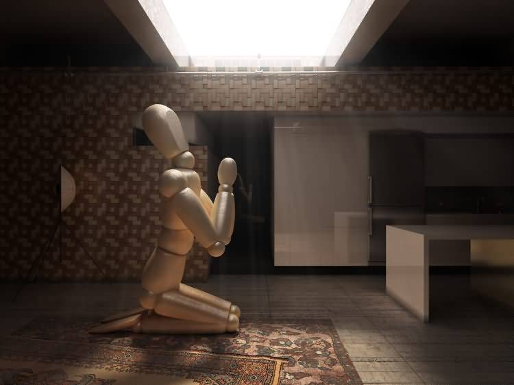 Vittorio Lippolis创意作品:简单的C4D人偶模型,也能演绎动人的作品! - R站|学习使我快乐! - 18