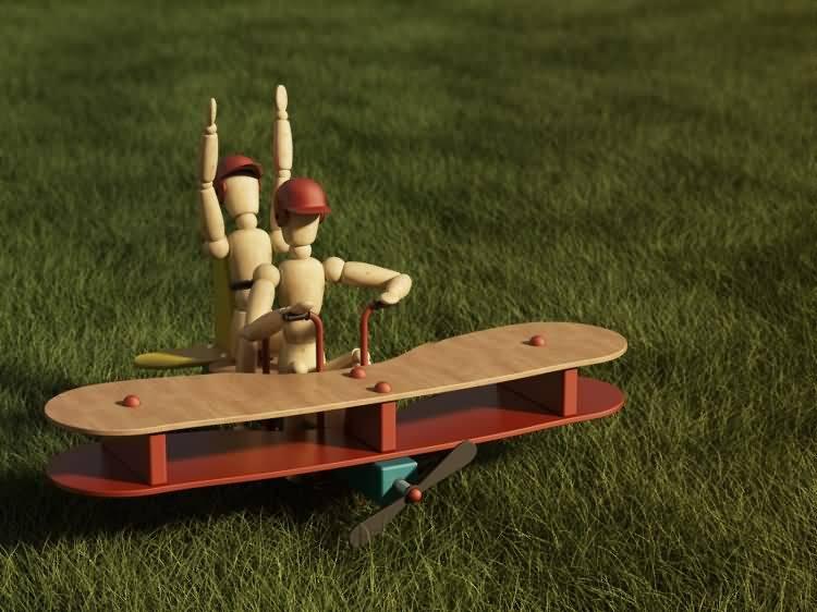 Vittorio Lippolis创意作品:简单的C4D人偶模型,也能演绎动人的作品! - R站|学习使我快乐! - 20
