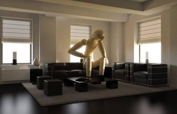 Vittorio Lippolis创意作品:简单的C4D人偶模型,也能演绎动人的作品! - R站 学习使我快乐! - 23