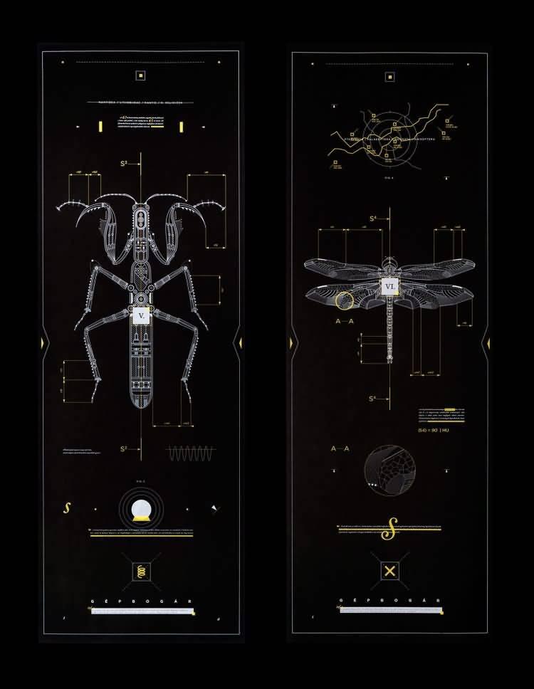 机械昆虫:每一个设计都有自己的蓝图,而我对细线的痴迷 Marton Borzak - R 站|学习使我快乐! - 2