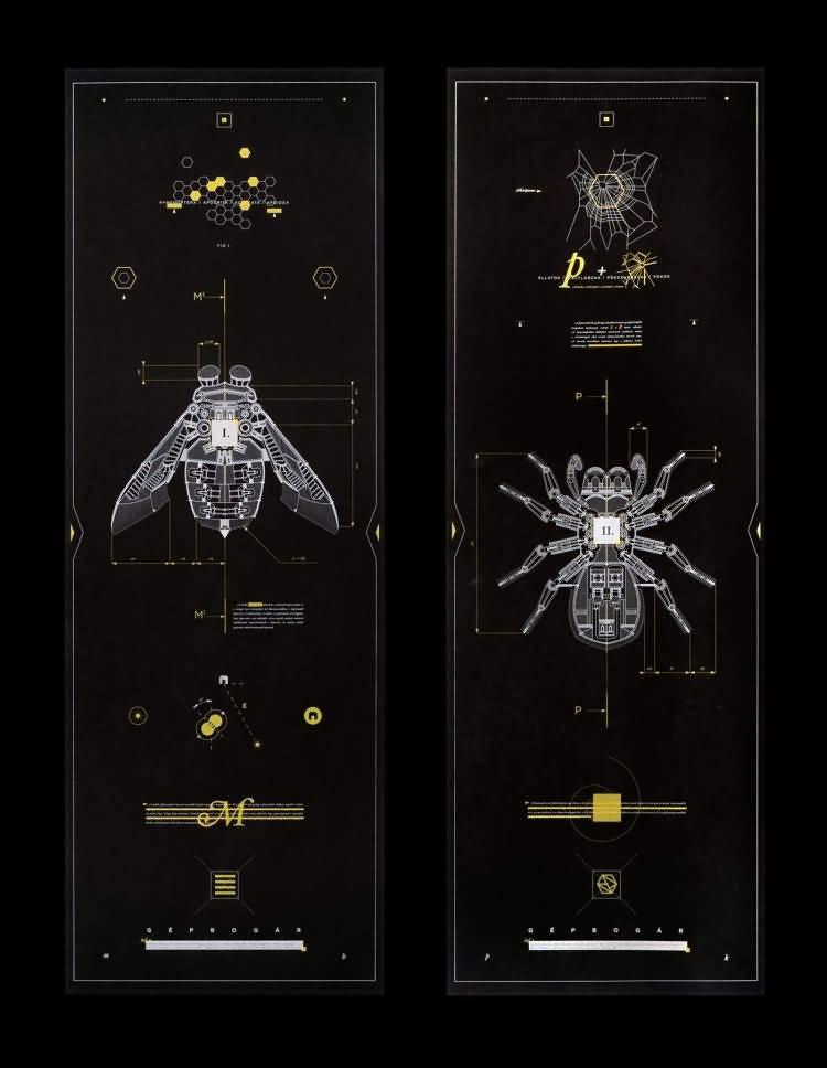 机械昆虫:每一个设计都有自己的蓝图,而我对细线的痴迷 Marton Borzak - R 站|学习使我快乐! - 8