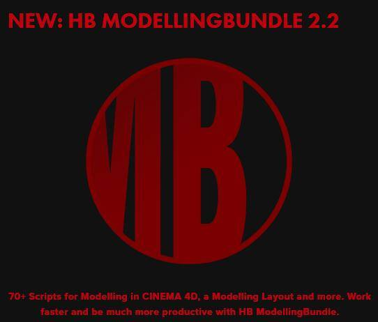 C4D插件:HB ModellingBundle 2.2 WIN/MAC 加强中文和谐一键安装版 | C4D快速建模脚本工具箱(含视频教程) 免费下载 - R站|学习使我快乐! - 1