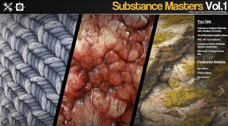 Gumroad – Substance Masters Vol.1 材质纹理制作大师训练班第一季 视频教程 免费下载 - R 站|学习使我快乐! - 1