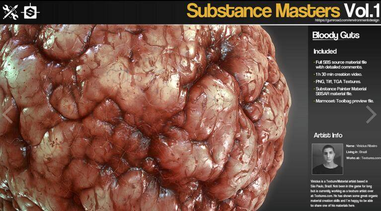 Gumroad – Substance Masters Vol.1 材质纹理制作大师训练班第一季 视频教程 免费下载 - R站|学习使我快乐! - 3