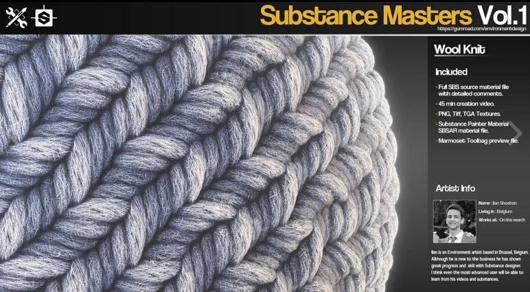 Gumroad – Substance Masters Vol.1 材质纹理制作大师训练班第一季 视频教程 免费下载 - R 站|学习使我快乐! - 5