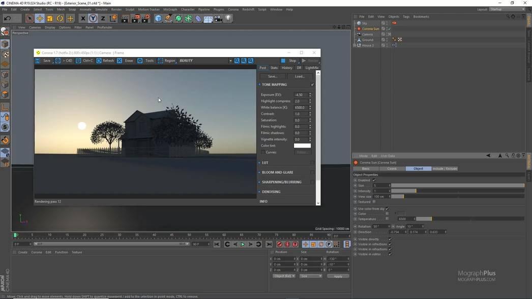 【R站出品】 中文字幕《Corona渲染宝典》进阶教程MographPlus - Learn Corona for Cinema 4D 视频教程 - R站|学习使我快乐! - 5