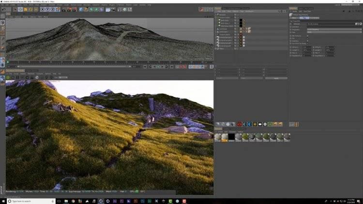 【R站翻译】中文字幕 C4D《Octane宝典》真实的自然环境艺术场景 - 制作渲染核心技法(包含山地\树木\草坪\上帝射线\超大型场景\夜景等) 视频教程 - R站|学习使我快乐! - 7