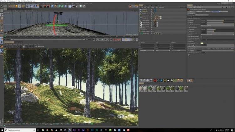 【R站翻译】中文字幕 C4D《Octane宝典》真实的自然环境艺术场景 - 制作渲染核心技法(包含山地\树木\草坪\上帝射线\超大型场景\夜景等) 视频教程 - R站|学习使我快乐! - 10