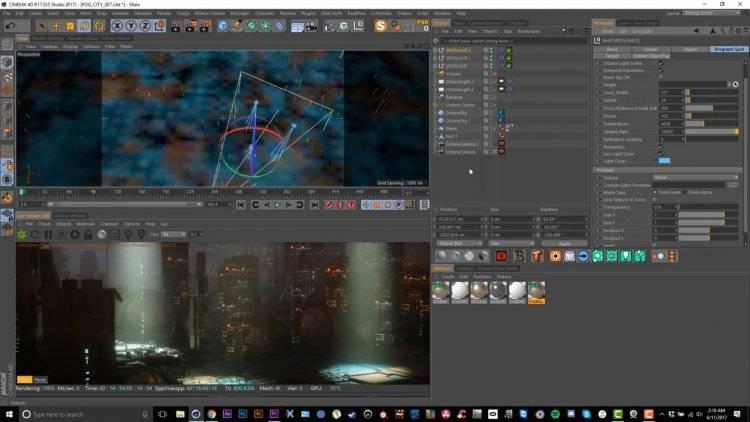 【R站翻译】中文字幕 C4D教程《Octane宝典》未来科幻城市艺术场景  -  搭建渲染核心技法 视频教程 - R站|学习使我快乐! - 9