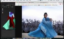 SpeedArt 霓裳青羽  Marvelous C4D – Arnold Render 画风清奇 复古中国风 视频速览【附工程文件】
