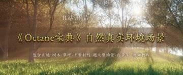 中文字幕 C4D《Octane宝典》真实的自然环境艺术场景
