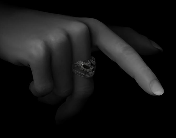 第010期 – C4D《每周一模》建模作业 – 黑暗系指环 - R站|学习使我快乐! - 6