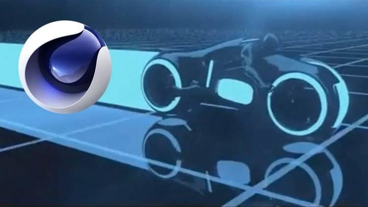 【R站出品】中文字幕 C4D 光速飞车《轨迹追踪效应》Tron Light 拖尾效果 视频教程 - R站|学习使我快乐! - 1