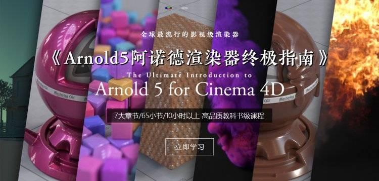 【R站出品】《Arnold阿诺德(C4DtoA)真实渲染宝典》高级视频教程(含工程文件)  限时超级优惠中…… - R站|学习使我快乐! - 2