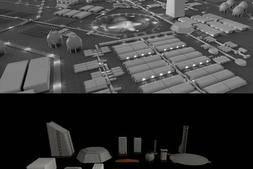 3D模型:影视宇宙星球殖民地场景3D模型 Kitbash3D – Space Colony (Maya/Max/FBX/OBJ) 下载