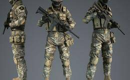 3D模型:特战队员武装反恐角色&武器模型(含贴图、FBX格式) CubeBrush – Assault Character Pack 免费下载