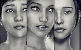 【大米姐姐】DAZ3D 官方自由CG艺术家Rarestone 一大波DAZ精致的人物模型作品来袭