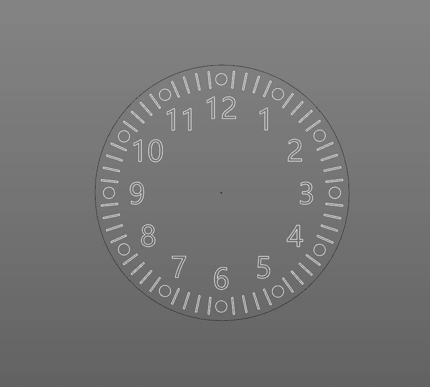 【R站洪瑞】C4D建模教程:钟表盘数字及刻度克隆建模方法 - R站|学习使我快乐! - 1